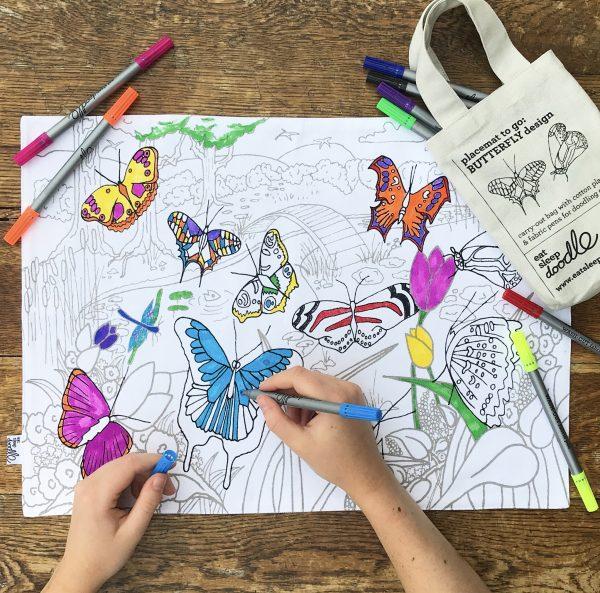 kleur de tien bekendste vlinders in