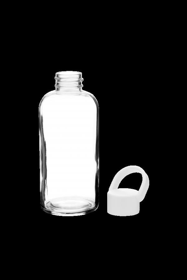 Glazen drinkfles